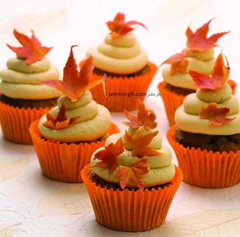 تزیین کاپ کیک برای پاییز - تزیین شماره 3