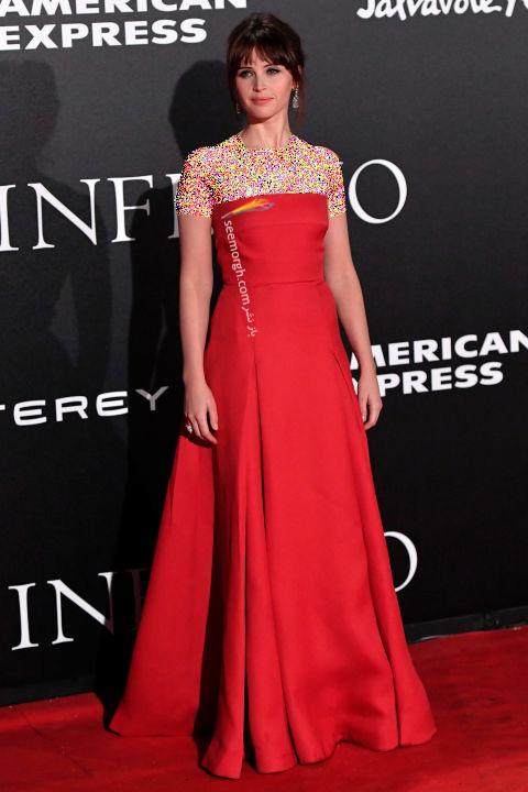 مدل لباس فلیسیتی جونز Felicity Jones در هفته مد نیویورک