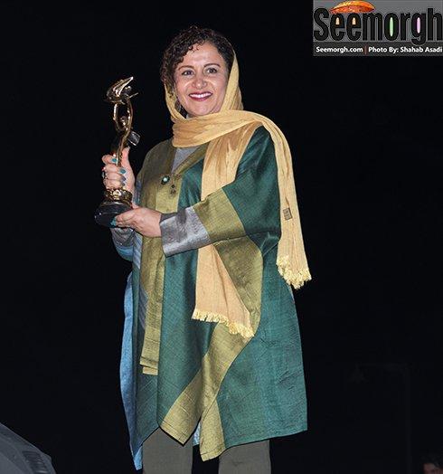 مدل لباس فرشته صدر عرفانی در جشن خانه سینما