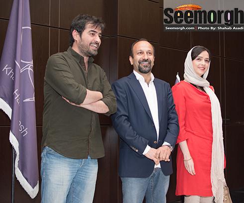 ترانه علیدوستی در کنار اصغر فرهادی و شهاب حسینی