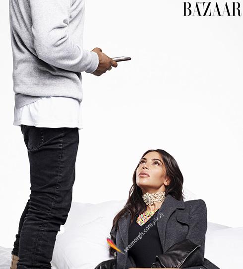 جدیدترین عکس های کیم کارداشیان Kim Kardashian و همسرش کانیه وست Kanye West روی مجله هارپر بازار Harper Bazaar - عکس شماره 1