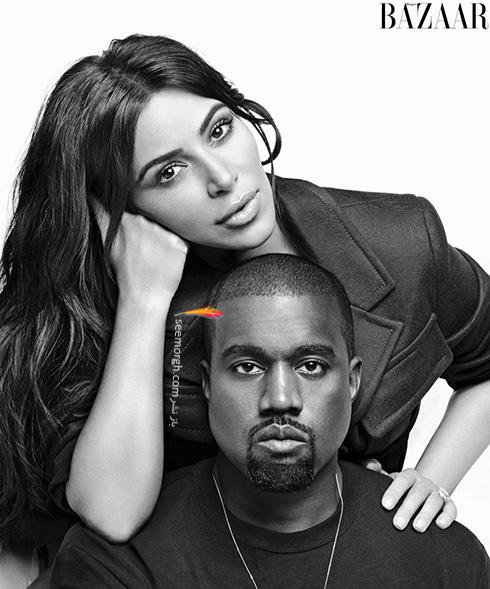 جدیدترین عکس های کیم کارداشیان Kim Kardashian و همسرش کانیه وست Kanye West روی مجله هارپر بازار Harper Bazaar - عکس شماره 2