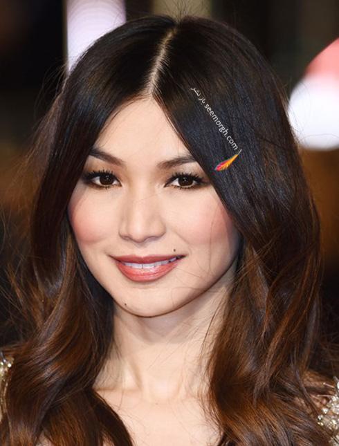 مدل آرایش جما چان Gemma Chan در مراسم بفتا 2016 Bafta
