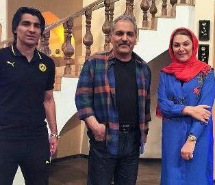 عکس وحید شمسایی و لاله اسکندری در کنار مهران مدیری