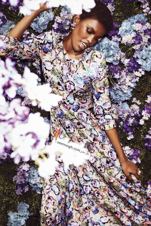پیراهن زنانه طراحی شده با الهام از طبیعت از برند جورجیو آرمانی Giorgio Armani