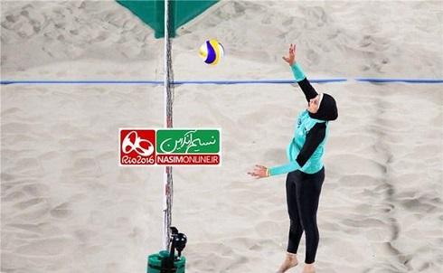 عکس دختران محجبه در والیبال ساحلی المپیک 2016