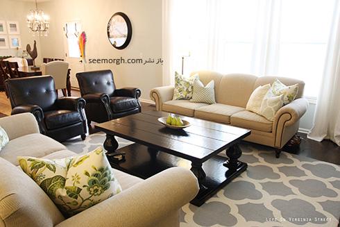 مبلمان مناسب با فرش زمینه مشکی - عکس شماره 3
