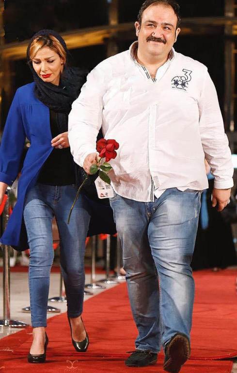 مهران غفوریان و همسرش در جشن حافظ