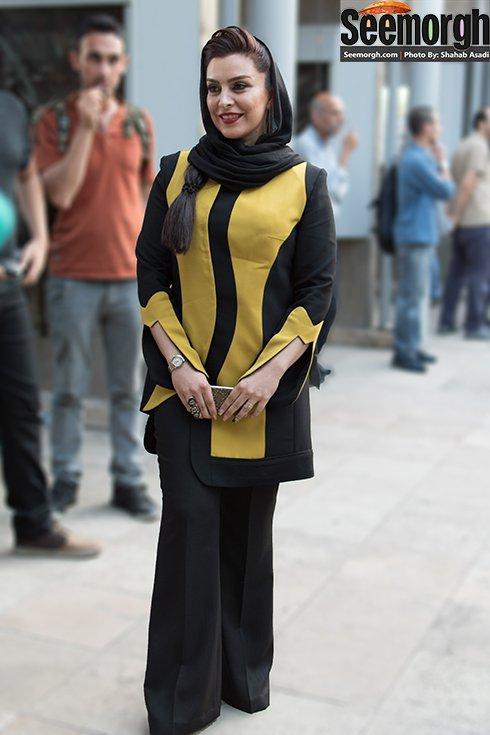 مدل لباس ماه چهره خلیلی در جشن حافظ