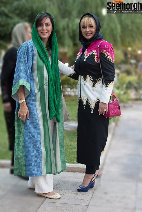 مدل لباس نیوشا ضیغمی و مهتاب کرامتی در جشن حافظ