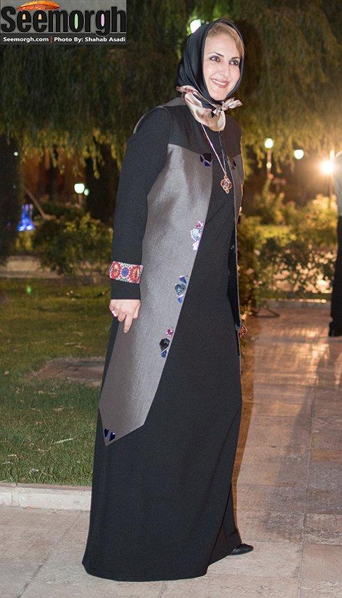 مدل لباس فاطمه گودرزی در جشن حافظ