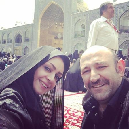 عکس هدایت هاشمی همسر دومش مهشید ناصری