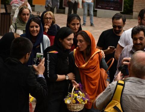 استقبال مردم از هدیه تهرانی