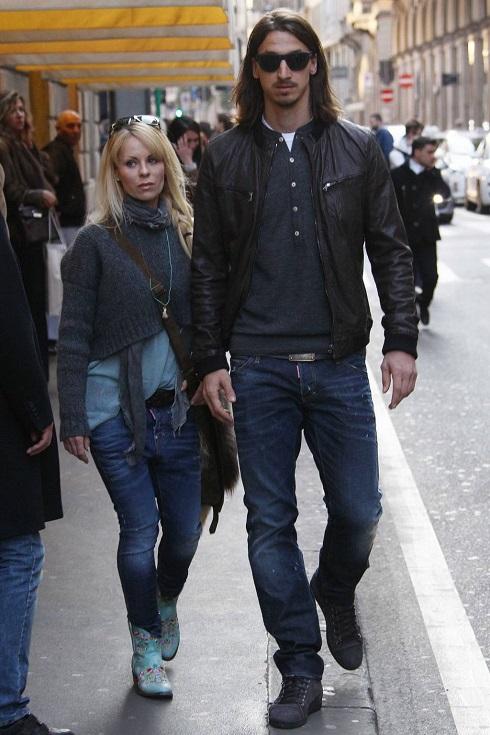 عکس زلاتان و همسرش