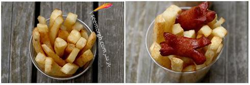 وهله چهارم درست کردن سیب زمینی سرخ کـرده به سبک لاتین