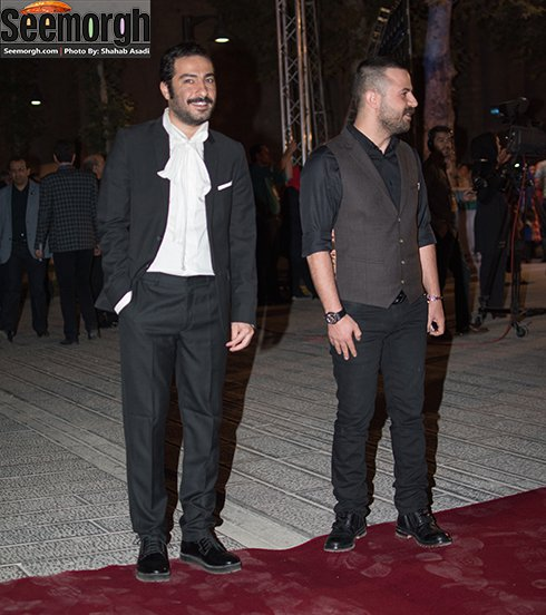 مدل لباس هومن سیدی و نوید محمدزاده در جشن خانه سینما