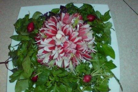 تزیین سبزی خوردن سفره افطار - مدل شماره 10