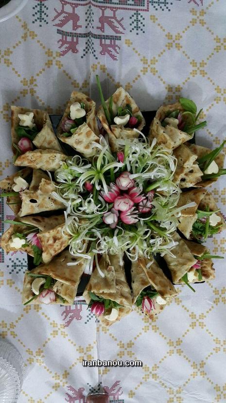 تزیین سبزی خوردن سفره افطار - مدل شماره 3