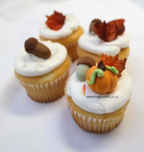 تزیین کاپ کیک برای پاییز - تزیین شماره 7