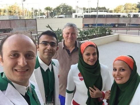 دختران ایران با لباسهای مخصوص افتتاحیه المپیک 2016