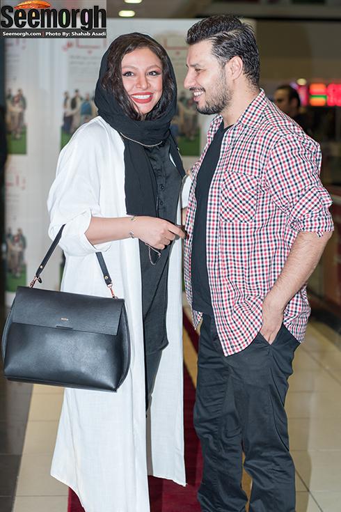 جواد عزتی و همسر مه لقا باقری