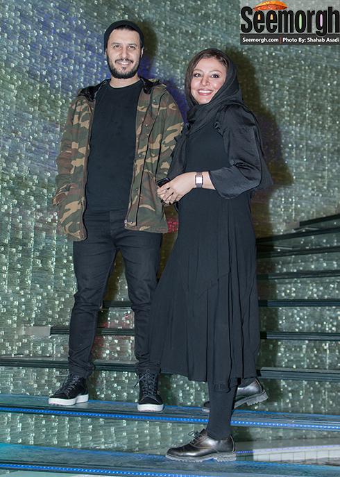 جواد عزتی و همسرش مه لقا باقری در اکران سیانور