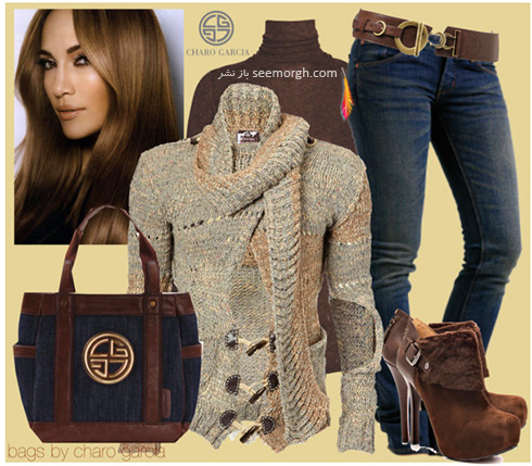 ست کردن لباس پاییزی به سبک جنیفر لوپز Jennifer Lopez - عکس شماره 1