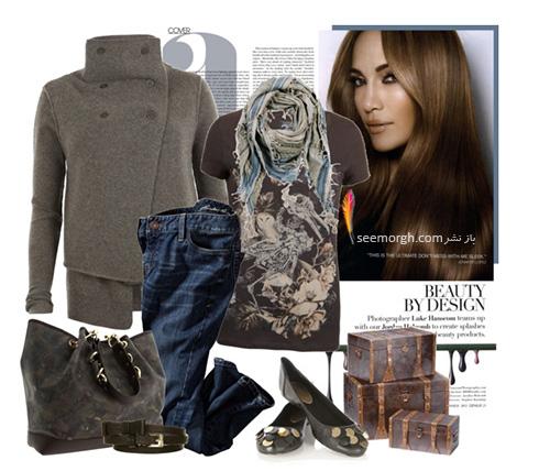 ست کردن لباس پاییزی به سبک جنیفر لوپز Jennifer Lopez - عکس شماره 6