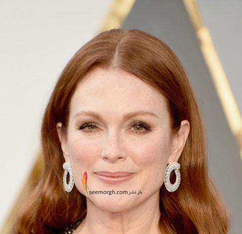 مدل آرایش جولین مور Julianne Moore در مراسم اسکار 2016 Oscar