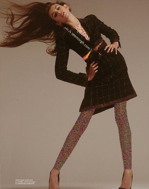 کایا برگر Kaia gerber سوپر مدل 14 ساله روی مجله پاپ Pop - عکس شماره 6