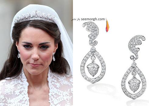 مدل گوشواره کیت میدلتون Kate Middleton - عکس شماره 1