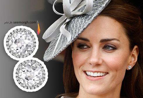 مدل گوشواره کیت میدلتون Kate Middleton - عکس شماره 2