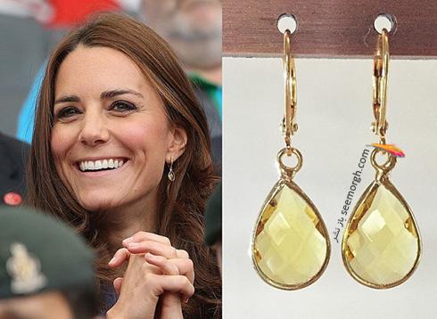 مدل گوشواره کیت میدلتون Kate Middleton - عکس شماره 9