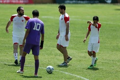 عکس دیدار دوستانه فوتبال آکادمی کیا و رسانه ورزش
