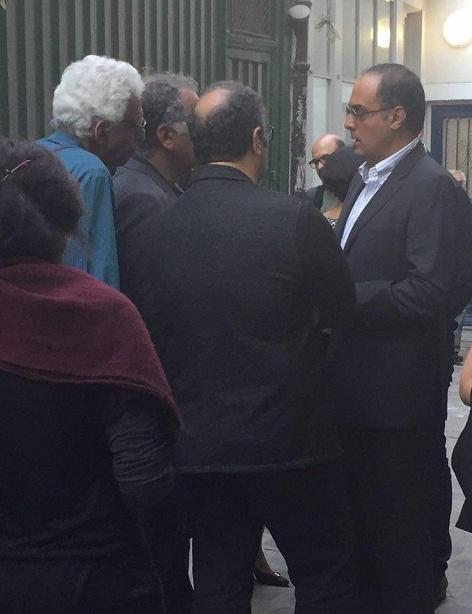احمد کیارستمی در کنار رضا میرکریمی،کیومرث پوراحمد و رسول صدرعاملی