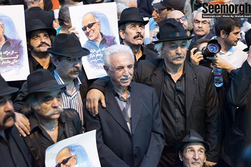 حضور اقشار مختلف مردم در مراسم عباس کیارستمی