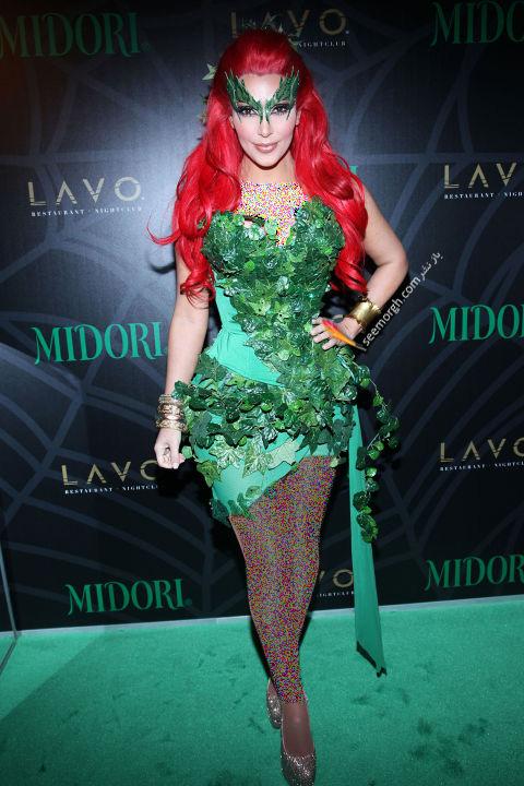 مدل لباس کیم کارداشیان Kim Kardashian در جشن هالووین 2011