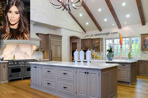 دکوراسیون آشپزخانه کیم کارداشیان Kim Kardashian