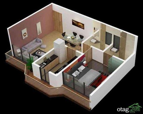 اصولی برای چیدن اتاق پذیرایی ال شکل - عکس شماره 1