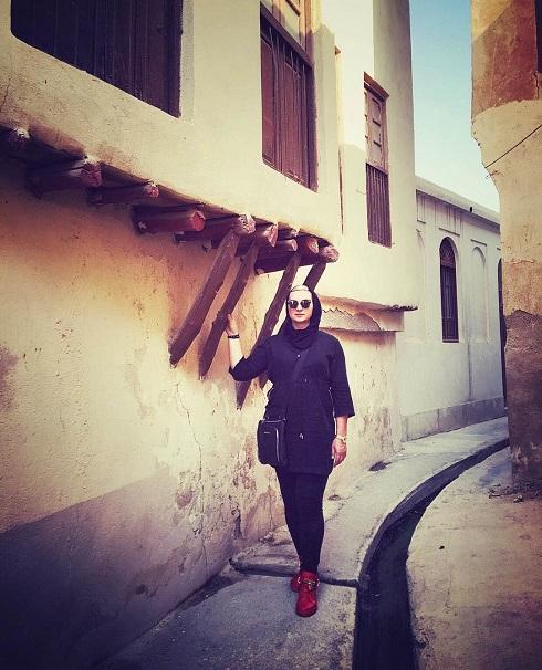 لیلا رجبی در کوچه های بوشهر