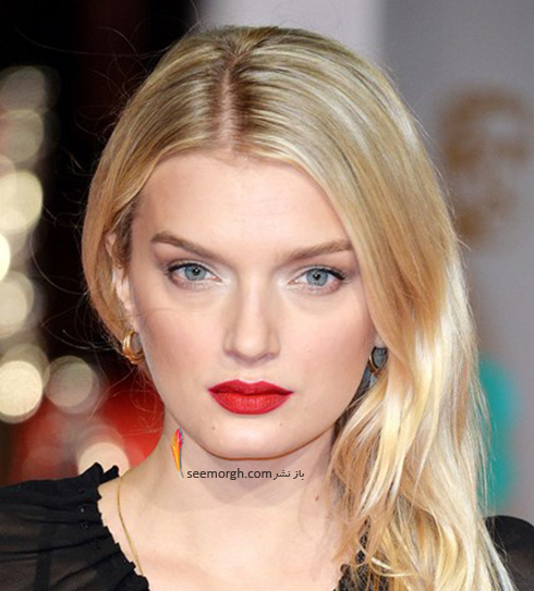 مدل آرایش لیلی دونالدسون Lily Donaldson در مراسم بفتا 2016 Bafta