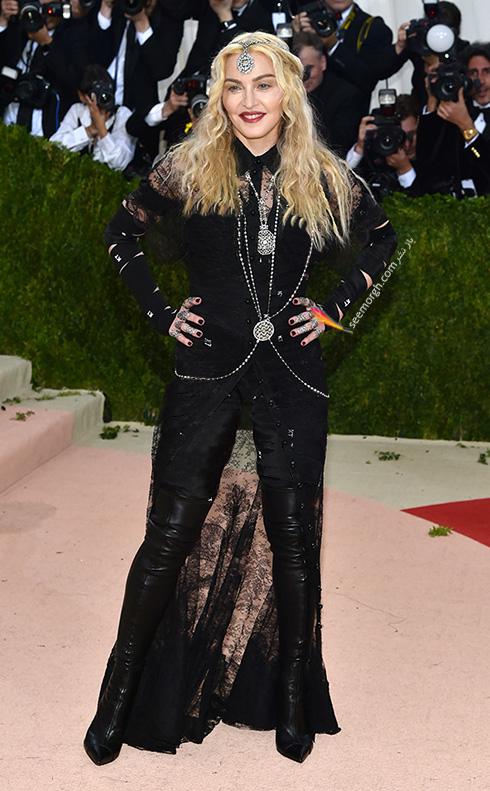 مدل لباس مدونا Madonna در مراسم مت گالا Met Gala 2016