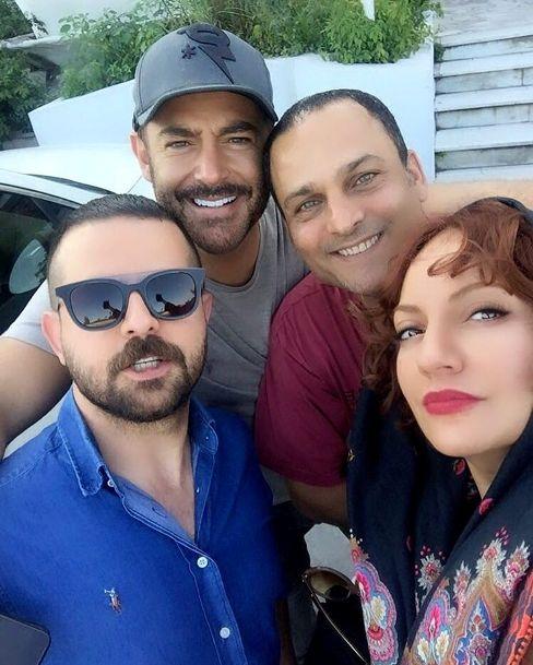 مهناز افشار در کنار رضا گلزار, هومن سیدی و حسین یاری