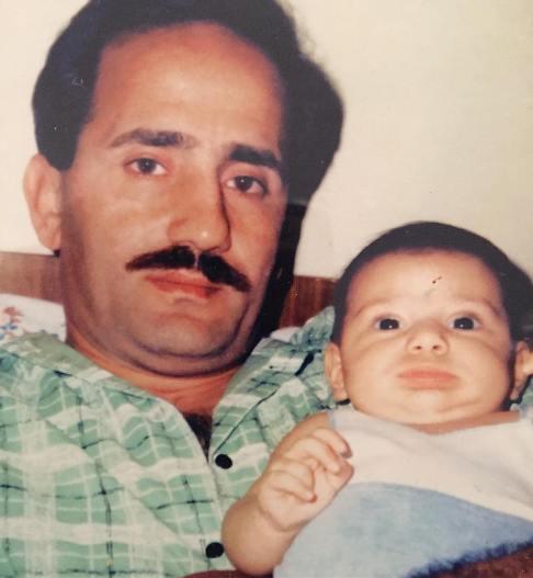 مجید مظفری و دخترش نیکی در سال ها پیش