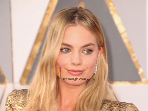 مدل آرایش مارگت روبی Margot Robbi در مراسم اسکار 2016 Oscar