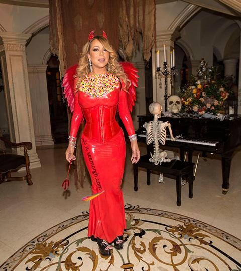 مدل لباس ماریا کری Mariah Carey در جشن هالووین 2016