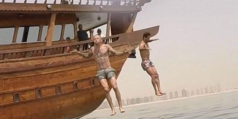 عکس خوشگذرانی مسعود شجاعی در قطر