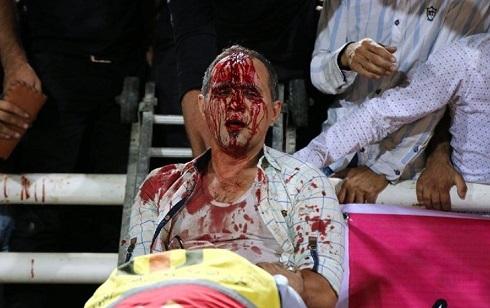 درگیری هواداران پرسپولیس و استقلال خوزستان
