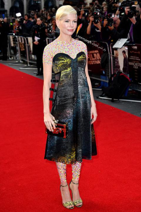 مدل لباس میشل ویلیامز Michelle Williams در هفته مد نیویورک