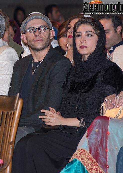 بابک حمیدیان و مینا ساداتی در جشن خانه سینما